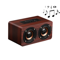 Portable Wireless Bluetooth Speakers Wooden Dual Passive Subwoofer Speaker NK Shopping