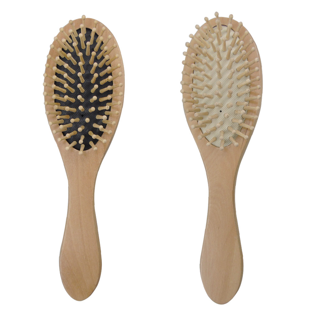 Wooden Natural Massage Hairbrush Anti Static Health Care Paddle Bamboo Hair Brush Large-Panel Combs Styling Tools