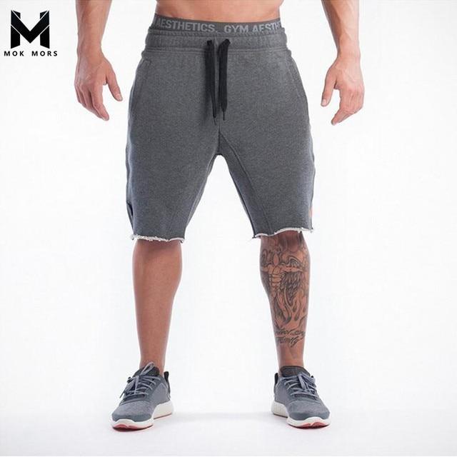 e41b3fe46d9a9 MOK MORS M 2017 New Brand High Quality Men shorts Bodybuilding Fitness Gasp  basketballRunning workout jogger