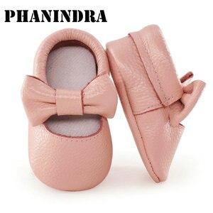 Детская обувь из натуральной кожи; Мягкие Мокасины для малышей; модельные туфли для новорожденных девочек; обувь для малышей 0-18 месяцев