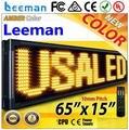 Leeman P10 led, P10 levou placa de exposição sinal programável, P10 mono de Led ao ar livre portátil