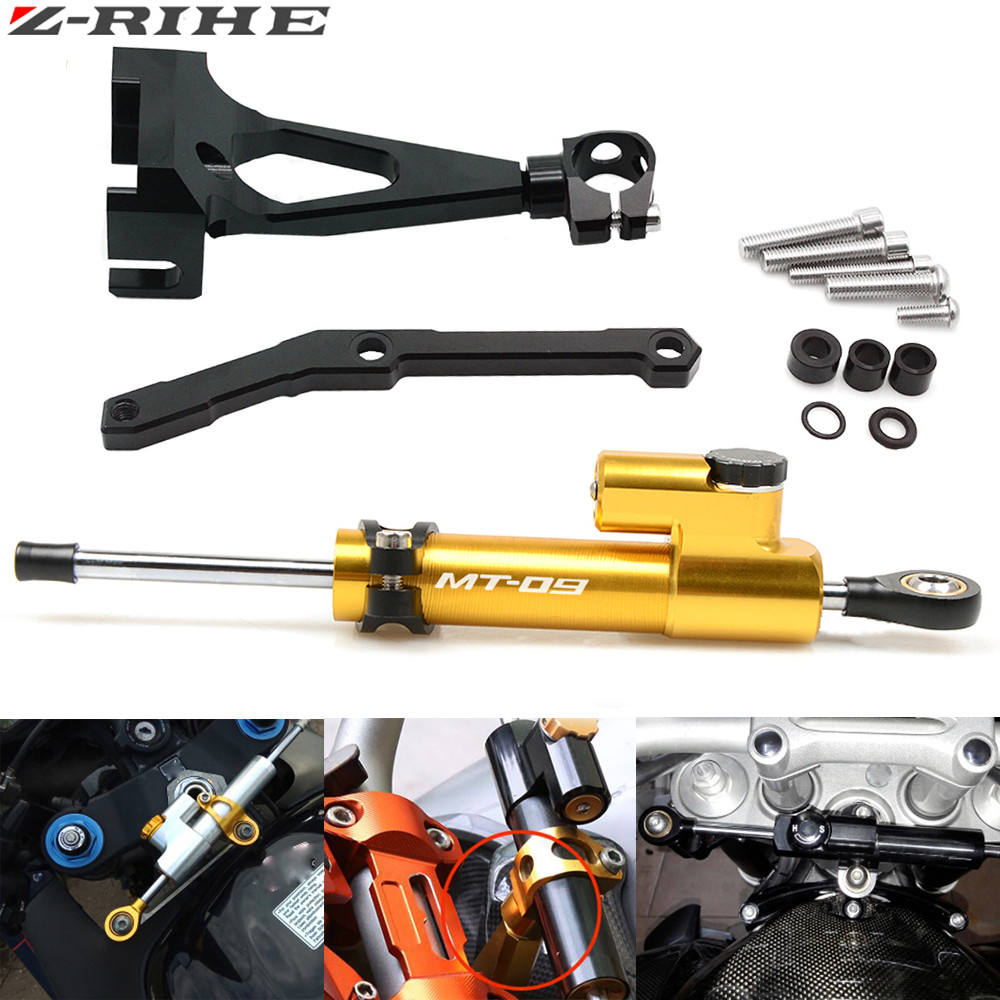 For Yamaha MT09 MT 09 FZ 09 2013 2017 Motorcycle Accessories Adjustable Steering Stabilize Damper Bracket