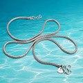925 colar de prata dos homens, Unisex, cadeia de cobra, pingente de colar é tie-in, grossa 2.5mm de comprimento 51 cm