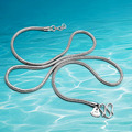 925 collar de plata de los hombres, Unisex cadena de la serpiente, collar colgante es tie-in, grueso 2.5mm de largo 51 cm