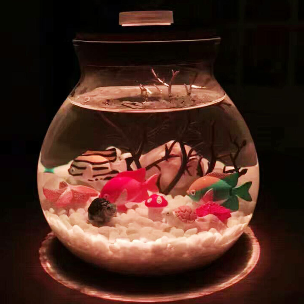 China red glass table lamp china glass table lamp - 12cm Microlandscape Led Terrariums Glass Bottle Night Light Aquarium Decoration Gift Table Lamp Lumiparty Luminaria Abajur