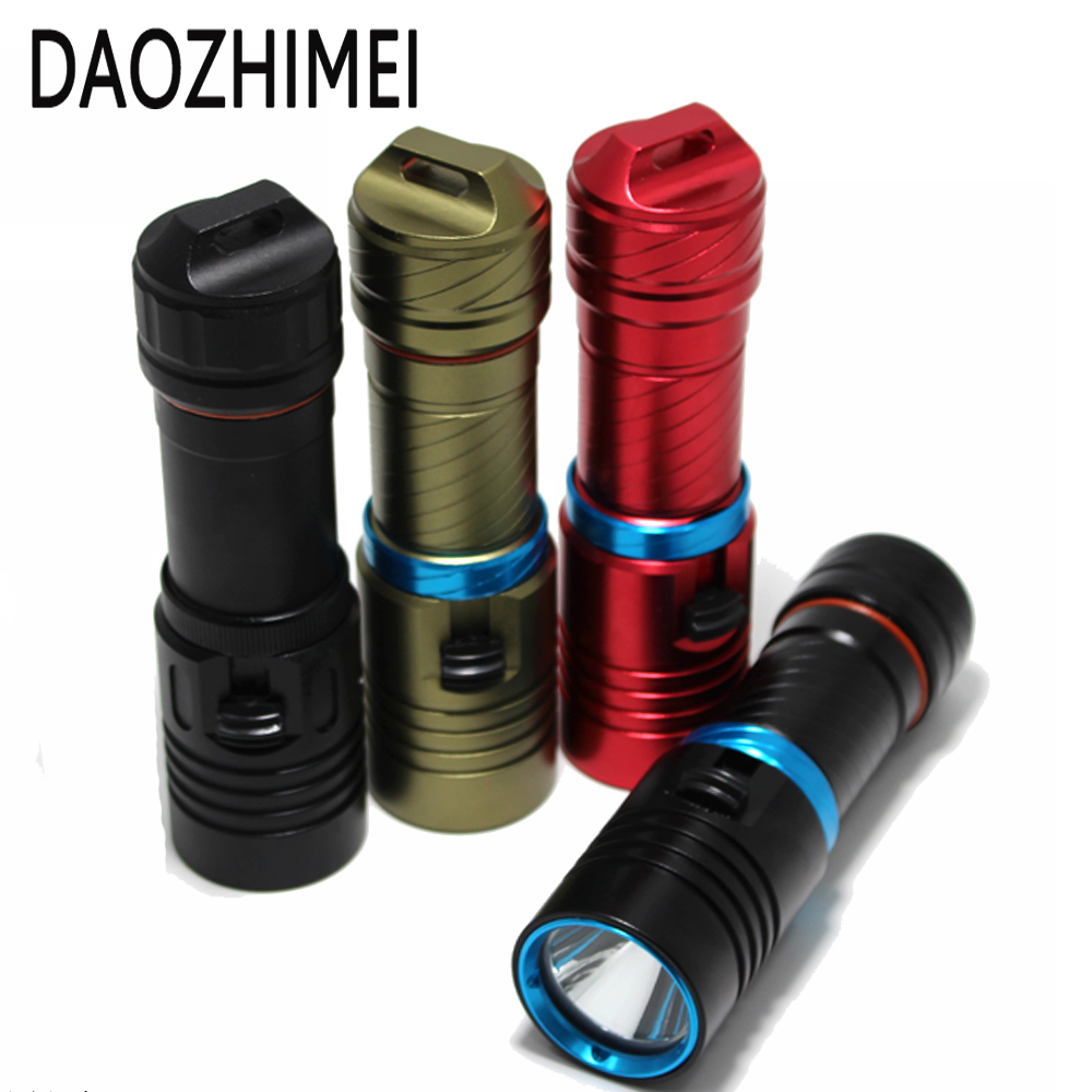 5000 lumens Diving Flashlight XM-L2 LED Aluminum Diving Torch Light 100m Scuba Diver LED Light Torch By 3.7V 18650 or 26650 100m underwater diving flashlight led scuba flashlights light torch diver xm l2 use 18650 or 26650 rechargeable batteries