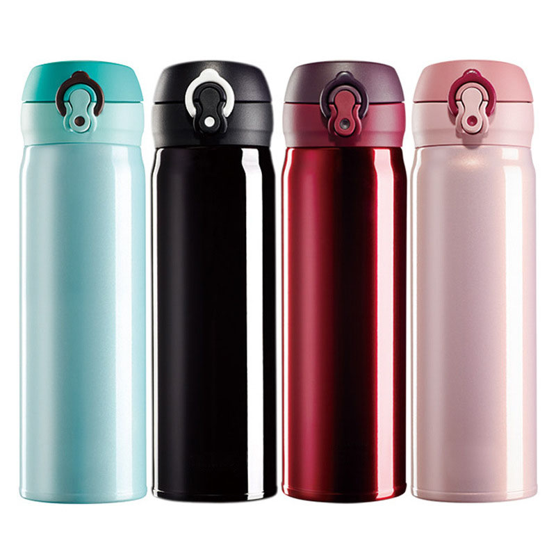 500ml Thermos Mug Insulated Thermocup Travel Business Cups Stainless Steel Bouncing Lid Thermoses Flasks Termos Coffee Bottle in Vacuum Flasks Thermoses from Home Garden