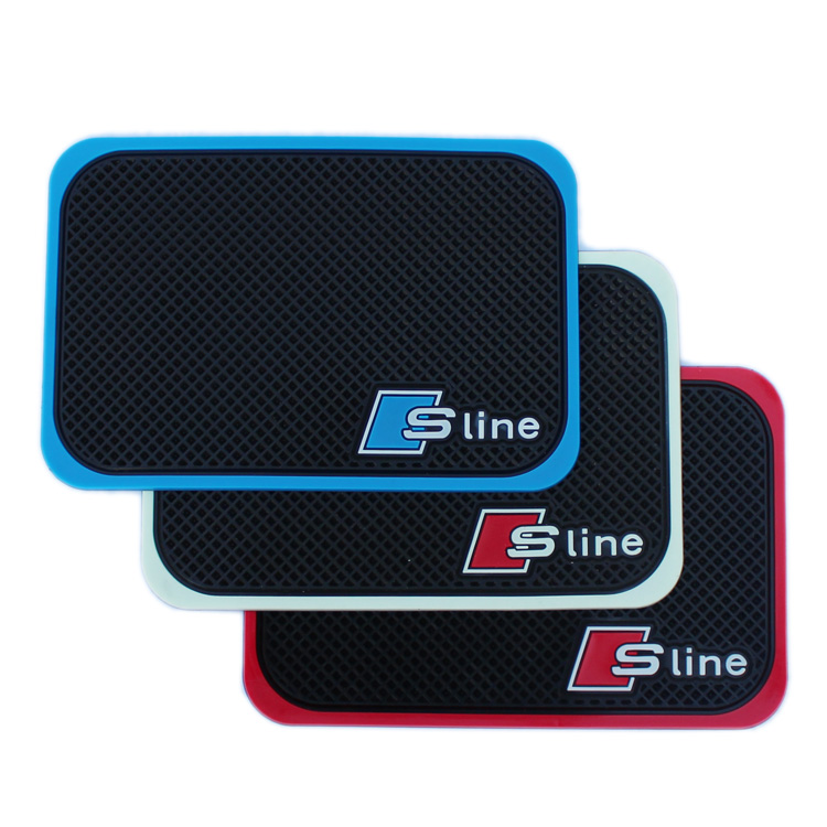 High Quality Car Mobile Phone S line Mat For AUDI A1 A3 A4 A5 A6 All Series Car Interior Accessories 1P Ca