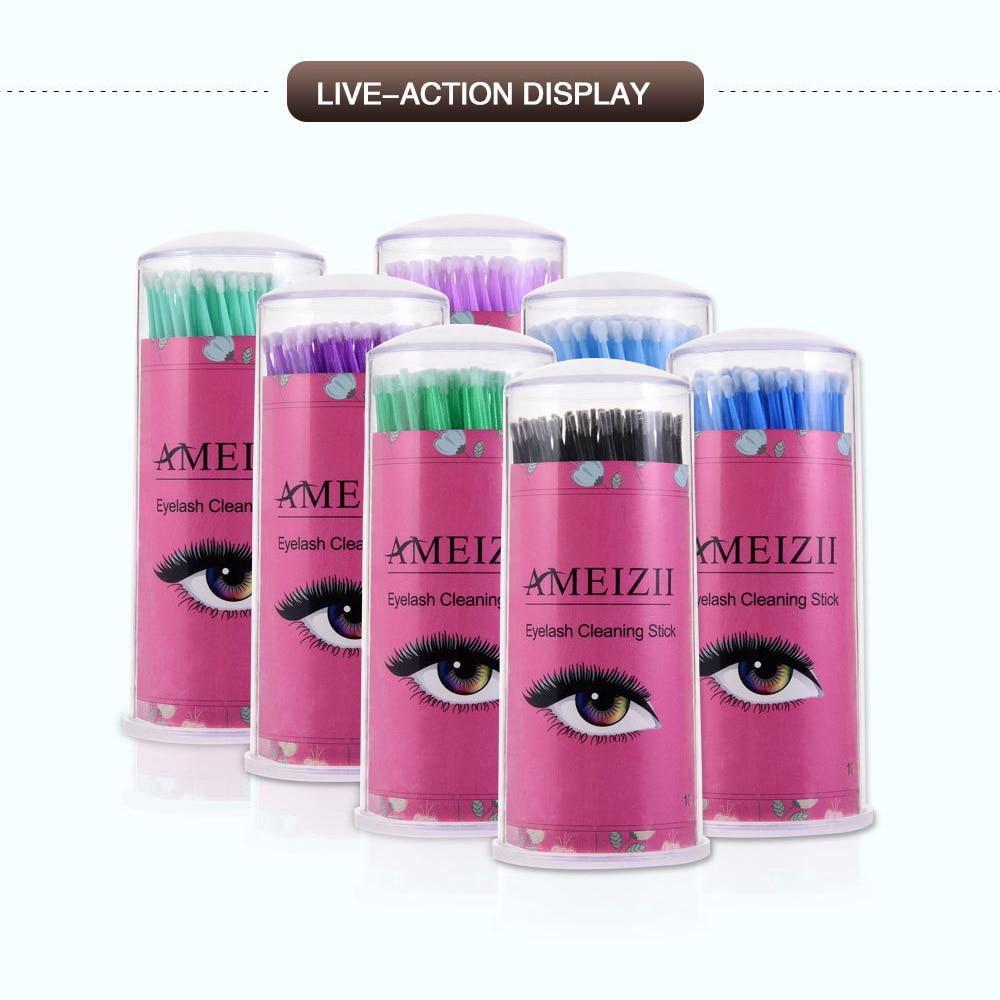 100 Pcs Eyelashes Cosmetic Swabs Applicator Brushes Dental Micro Brush Disposable Materials Durable Micro Mascara Wands Spoilers