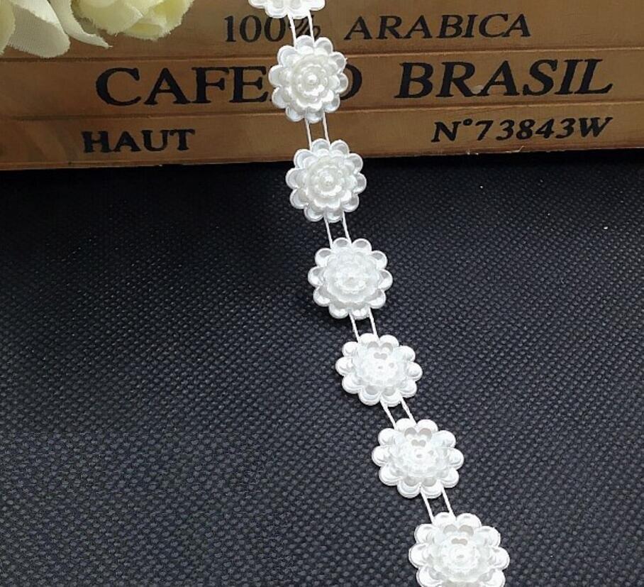10Meter White 15mm Sunflower ABS Pearl Garland Chain Trim For Wedding Party Centerpiece Decoration