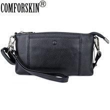 COMFORSKIN Luxurious 100% Cowhide Leather Messenger Bags New Arrivals European And American Style Ladies Flap High Quality