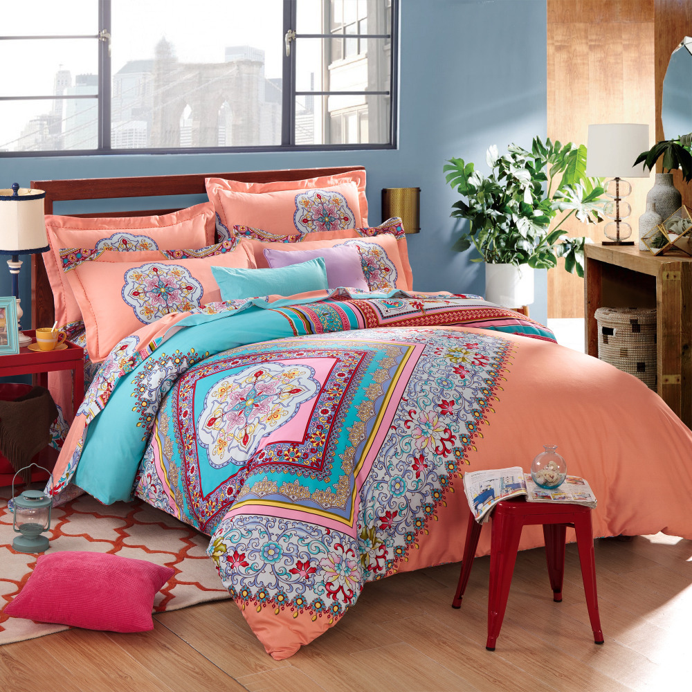 duvet clip picture  more detailed picture about twin full queen  - twin full queen size cotton bohemian boho style colourful comfortersets duvet cover sets