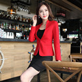 Formal Uniform Styles Elegant Red Slim Fashion Business Work Suits With Jackets And Mini Skirt Spring Autumn Ladies Blazers Set