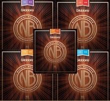 D'addario Nickel Bronze Acoustic Guitar Strings NB1047/NB1152/NB1253/NB1256/NB1356