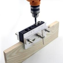 Деревообрабатывающий Самоцентрирующийся зажимной карман отверстие джиг комплект 6/8/10 мм дрель втулки направляющее отверстие тонкий пояс, который крепится на локатор Сверло DIY Плотницкие Инструменты