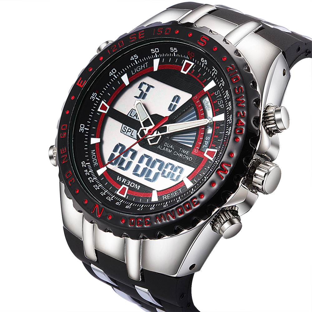 Sport Men's Quartz Analog Digital LED Watch 1