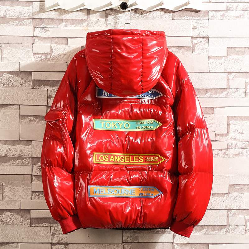 Padded Winter Jacket Men Thicken Hooded   Parkas   Mens Casual Bright Color Warm Snow Jacket And Coat Men Windproof Outerwear