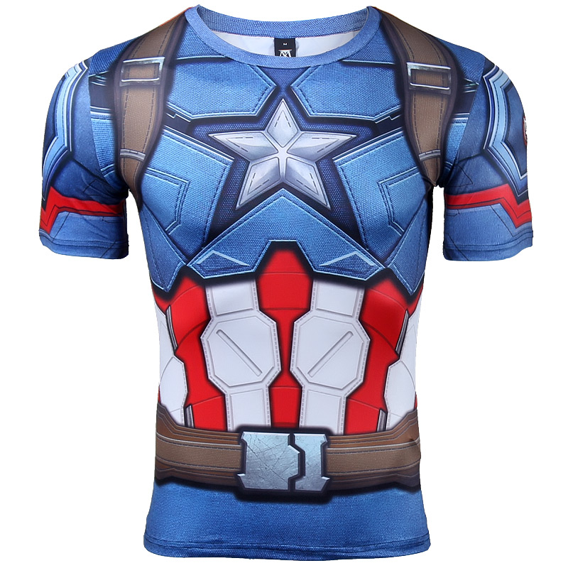 94483d83c Captain America Civil War Tee 3D Printed T shirts Men Compression Avengers  Iron Man Cosplay Costumes Fitness Clothes Male Tops-in T-Shirts from Men's  ...