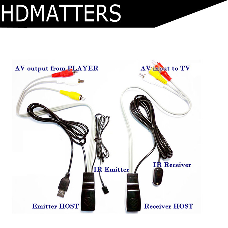 US $14 31 21% OFF|HDmatters AV video audio extender over cat5e/6 ethernet  cable with IR Infrared Repeater+USB power adapter on Aliexpress com |