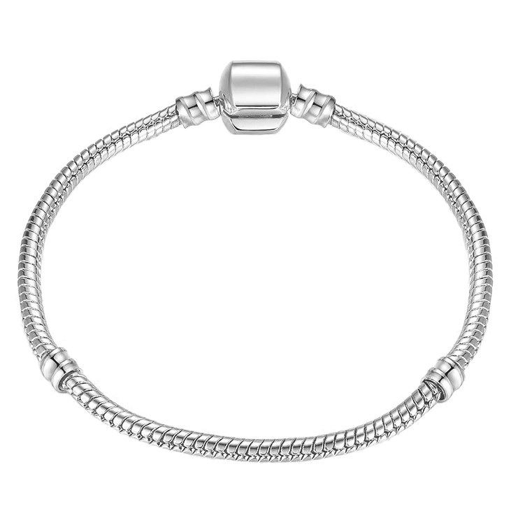 Endless Friendship High Quality 17 21cm Silver Snake Chain Lady Bracelet European Charm Bracelet for Women DIY Jewelry Making in Chain Link Bracelets from Jewelry Accessories
