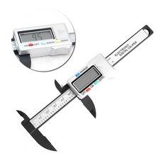 Cheaper 100mm 4inch Digital Electronic LCD Gauge Carbon Fiber Vernier Caliper Micrometer  -Y122