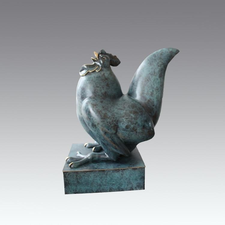 Bronzo animale dello zodiaco ornamenti Gallo Pollo regalo dei monili hotel decorazione Feng ShuiBronzo animale dello zodiaco ornamenti Gallo Pollo regalo dei monili hotel decorazione Feng Shui