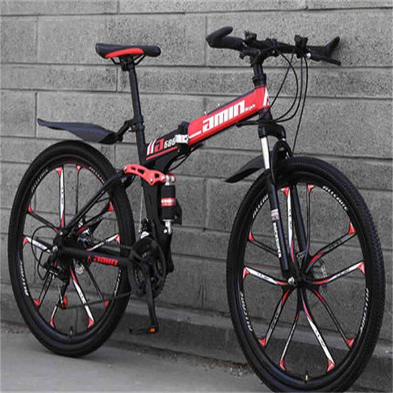 Sports And Entertainment One Wheeled Mountain Bike Folding Riding Off Road Double Shock Absorbing Speed Racing