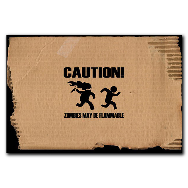 Caution Carpet Inflammable Zombie Mat Tapetes De Cozinha Door Stepping Pad Fabrics Kid Room Hallway Vloerkleed