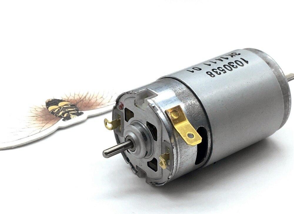 Hk 390 Dc Motor Dual Output Shaft Diy Cordless Vacuum