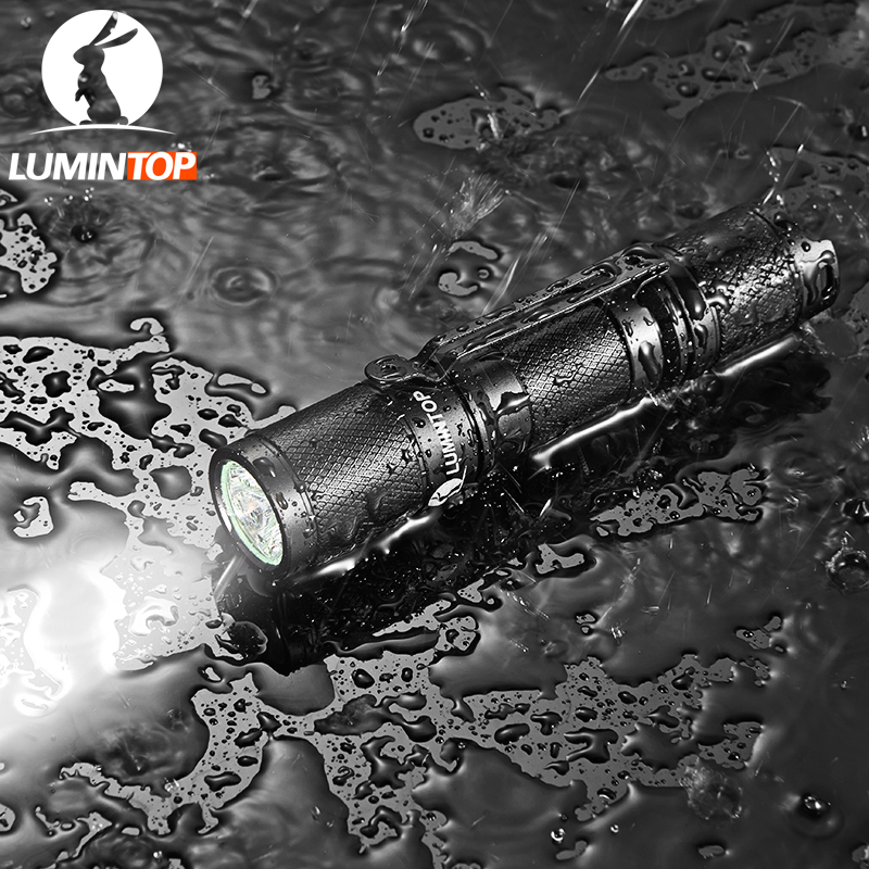 LUMINTOP Edc Flashlight  Tool AA    550 Lumens Cree Led  Pocket Size  with switch  tail lumintop rechargeable searching flashlight sd75 with 4pcs 18650 battery 4000 lumens cree xhp70 led free get lumintop px16