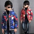 Дети зимняя одежда больших Мальчиков сплошной цвет пальто С Капюшоном Куртки Длинные Детей Пальто Зимы Малышей outwearn для мальчика YL228