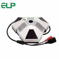 2MP 3pcs Array IR Led 360 Degree Fisheye Panorama Ip Camera With Cms Software IPhone Android
