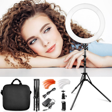 Travor ring light lamp 18 inch 55W 240pcs dimmable circular photo camera with tripod for makeup video youtube