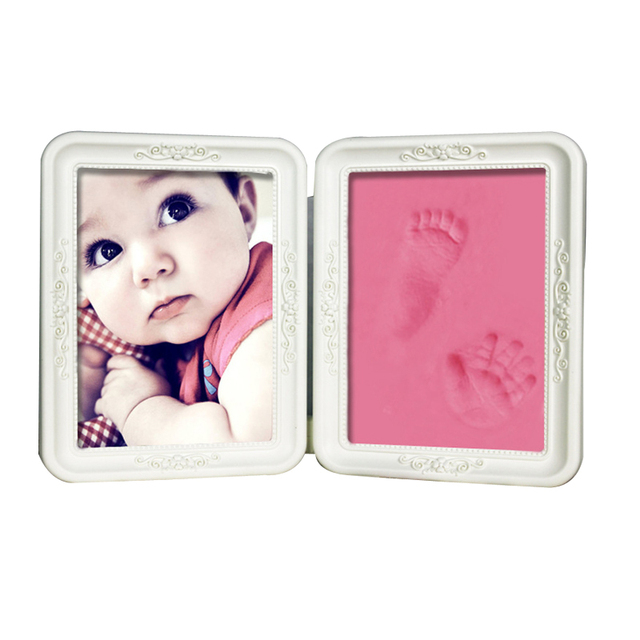 Baby Handprint and Footprint Kit Photo Frame With Clay Newborn Gifts ...