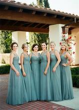 2016 Fashion A Line Chiffon Long Bridesmaid Dresses Cheap Wedding Party Dress Maid of Honor Bridesmaid Gowns Dress C89