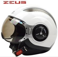 Zeus de Carreras medio casco, cascos de Moto bicicleta eléctrica, Open face capacete, ECE DOT Aprobado seguro!