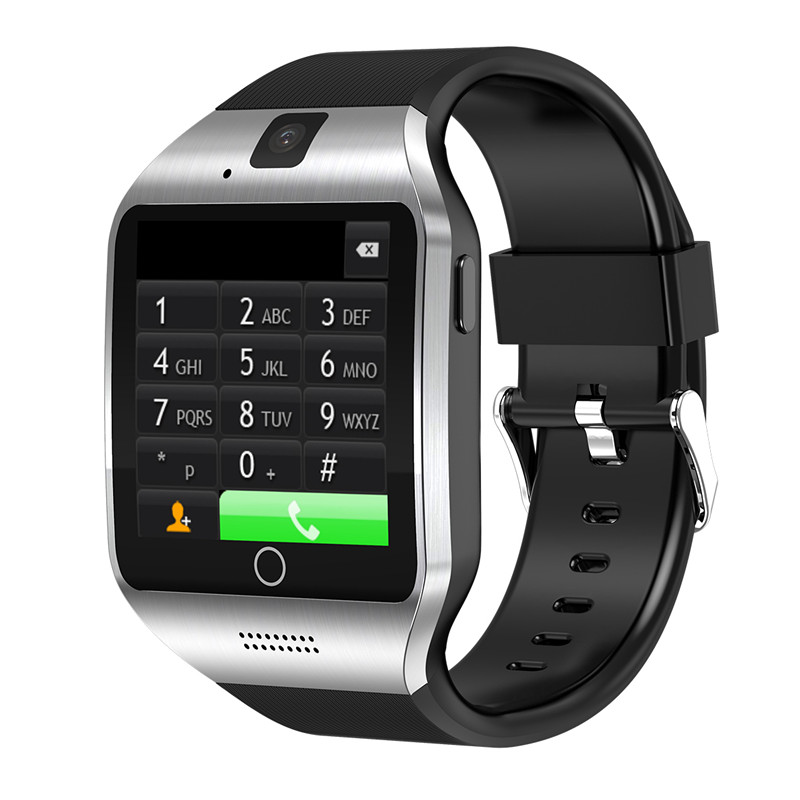 ZV18 android 4.4 montre intelligente Q18 mtk6572 SmartWatch pour android support de téléphone 3G wifi GPS SIM GSM WCDMA 500 W caméra Video696