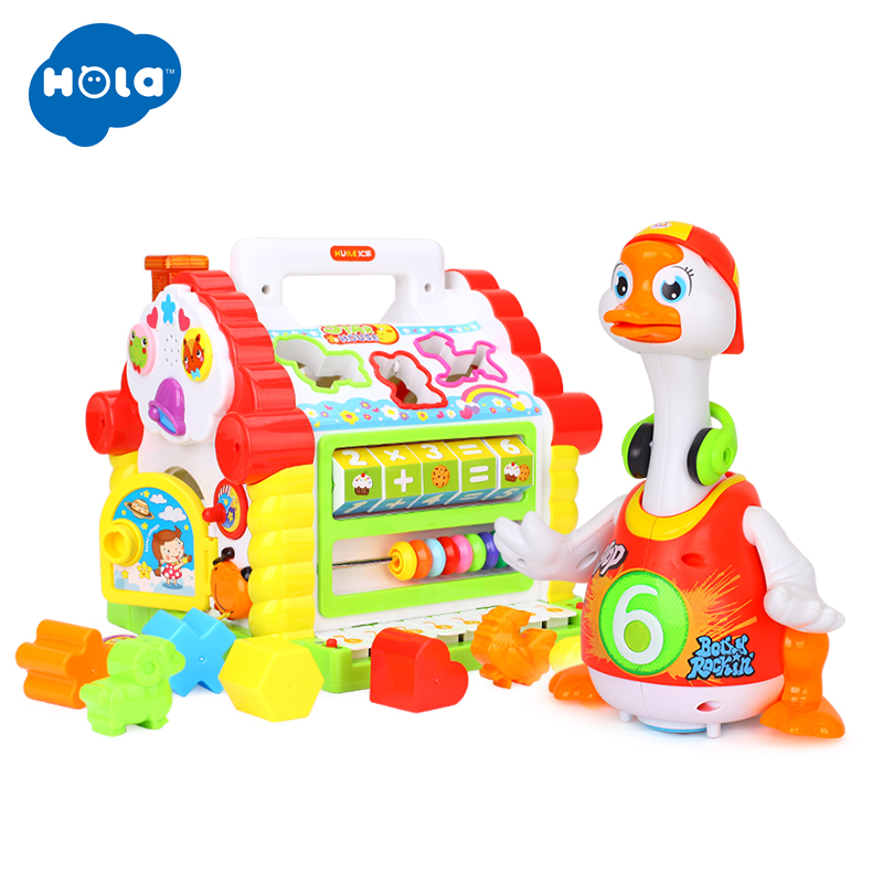 HOLA 739+828 Kids Fun Tree House Activity Cube Toy Learning Cottage & Super Intelligent Hip hop Dance Read Tell Story ToyHOLA 739+828 Kids Fun Tree House Activity Cube Toy Learning Cottage & Super Intelligent Hip hop Dance Read Tell Story Toy