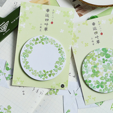 Get more info on the 4pcs Four leaf clover sticky note Lucky green color memo pad Post planner stickers Marker it Stationery School supplies A6412