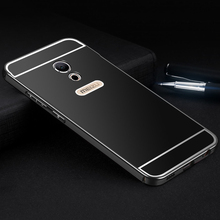 Aimak Brand Aluminum Metal Frame & PC Back Cover Case For Meizu Pro6 Pro 6 Luxury Mobile Phone Cover