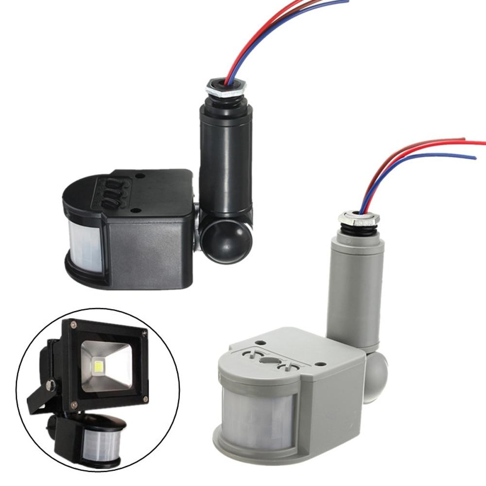 Interruptor de luz de Sensor de movimiento para interiores y exteriores, interruptor de Sensor de movimiento IR Automático 5 W-100 W AC 220V con luz LED, recién llegado