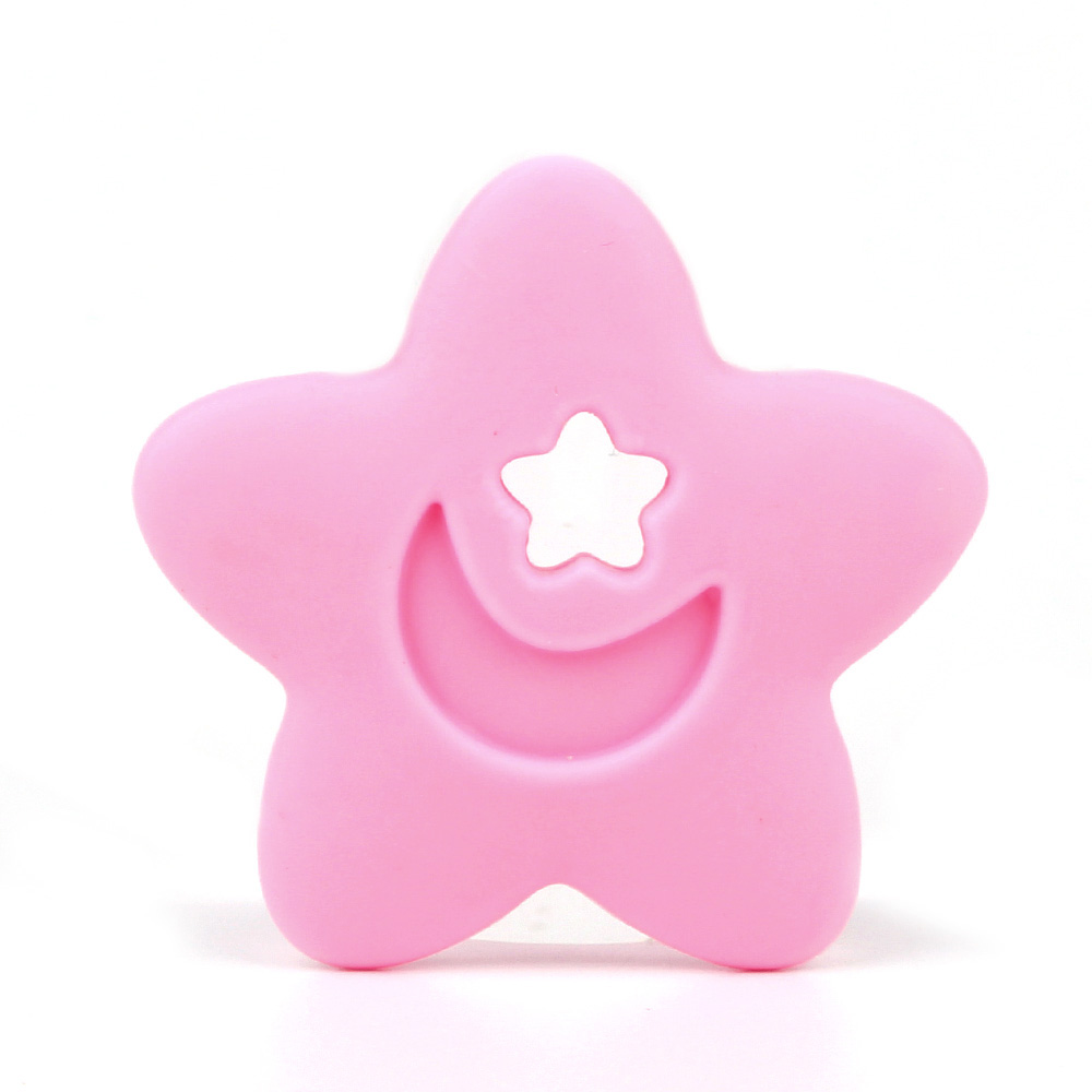 TYRY.HU Star Silicone Teether Baby Teething Toy Beads DIY Pacifier Chain Necklace  Nursing Pendant Food Grade Silicone BPA Free