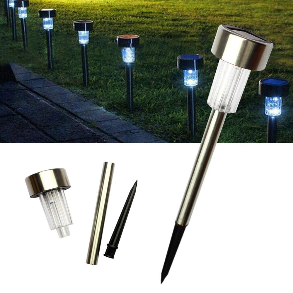 5pcs lot spike solar garden lights waterproof solar lamp landscape lighting solar lights for garden decoration patio lawn in Solar Lamps from Lights Lighting
