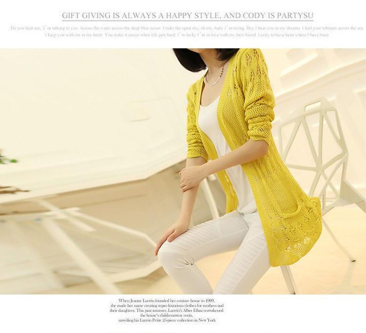 Womens Sweater Spring Jacket Loose Shawl 21
