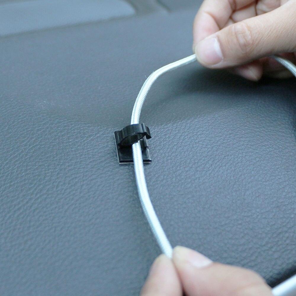 Carmilla Car Wire Cable Holder Tie Clip Fixer Organizer Sticker for ...