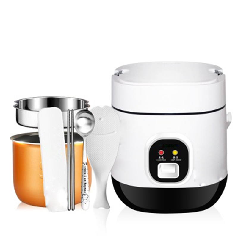 DMWD 1.2L Mini Electric Rice Cooker 220V Travel Portable Soup Pot Egg Boiler Steamer Nonstick For 1-2 People Heat Preservation