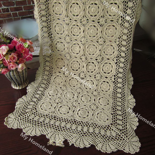 100% Cotton Vintage Hand Made Crochet Doilies Table Mat Table Cloth ...