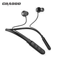 CBAOOO BH1 Bluetooth наушники Беспроводной наушники Bluetooth гарнитура Спорт висит шеи с микрофоном для android iphone xiaomi
