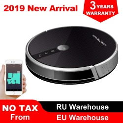 2019 Powerful Robot Vacuum Cleaner C30B,Map navigation,3000Pa Suction, ,Smart Memory, Map Shown on Wifi APP, Electric Water tank