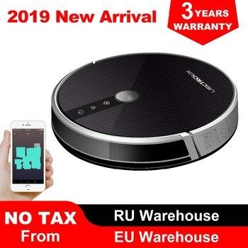 LIECTROUX C30B Robot Stofzuiger, Kaart navigatie, 3000 Pa Zuig,, Smart Geheugen, kaart Display op Wifi APP, Elektrische Water tank